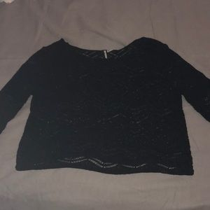 Divided Sweaters - Mesh Black Sweater - TANK TOP NOT INCLUDED